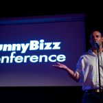 David Nihill hosting FunnyBizz Conference New York.