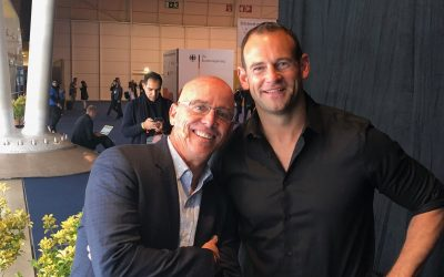 Backstage with GoDaddy CEO Blake Irving at Collision Conference