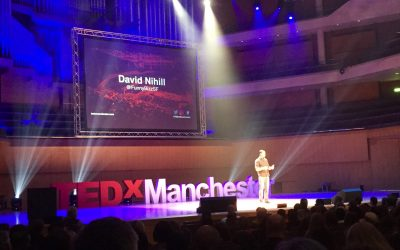 Speaking at TEDx Manchester and to 2,300 happy folks.